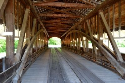 Interior of Westport Covered Bridge image. Click for full size.