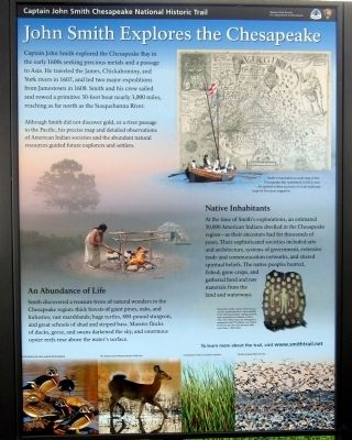 John Smith Explores the Chesapeake Marker image. Click for full size.