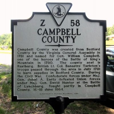 Campbell County Marker image. Click for full size.