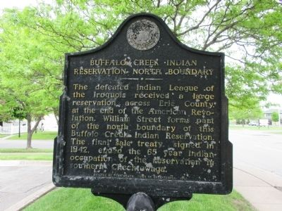 Buffalo Creek Indian Reservation North Boundary Marker image. Click for full size.