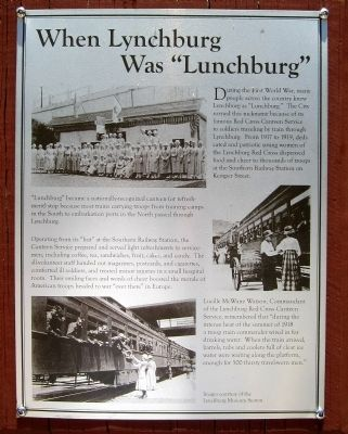 "When Lynchburg Was ""Lunchburg"" Marker image. Click for full size."