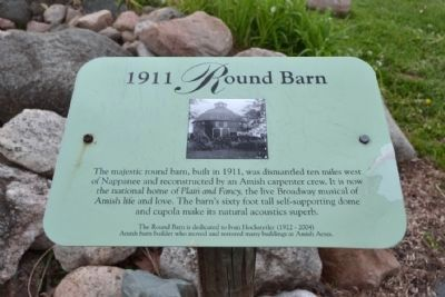 1911 Round Barn Information Sign image. Click for full size.