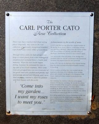 The Carl Porter Cato Rose Collection Marker image. Click for full size.