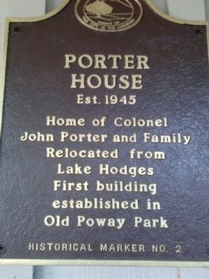 Porter House Marker image. Click for full size.