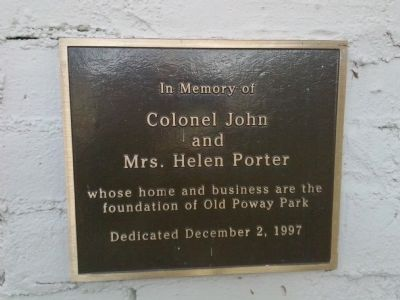Porter Plaque image. Click for full size.