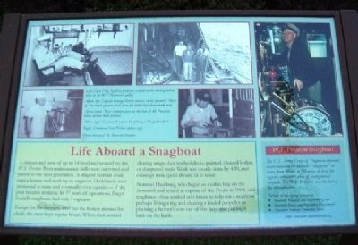 Life Aboard a Snagboat Marker image. Click for full size.