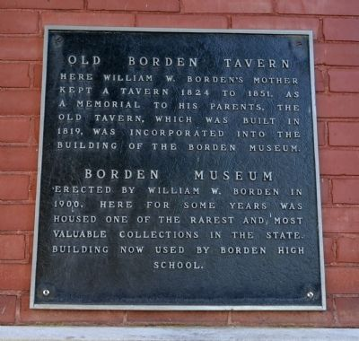 Old Borden Tavern / Borden Museum Marker image. Click for full size.