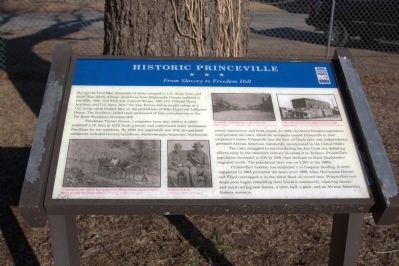 Historic Princeville Marker image. Click for full size.