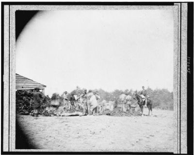 Scene of Ewell's attack, May 19, 1864, near Spottsylvania [i.e. Spotsylvania] Court House. image. Click for full size.