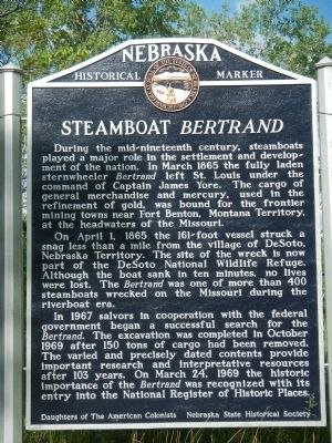 Steamboat <i>Bertrand</i> Marker image. Click for full size.