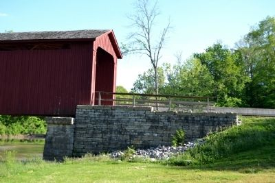 Stone Abutment of West Landing of Bridge image. Click for full size.