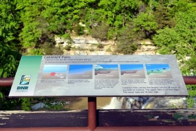 Cataract Falls Marker image. Click for full size.