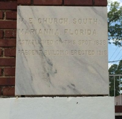 First United Methodist Church cornerstone image. Click for full size.