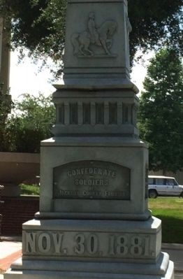 Confederate Soldiers Monument Marker -East Panel image. Click for full size.