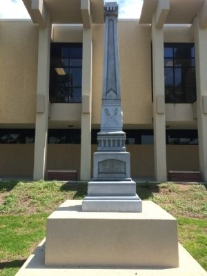 Confederate Soldiers Monument - North image. Click for full size.