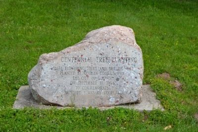 Centennial Tree Planting Stone image. Click for full size.