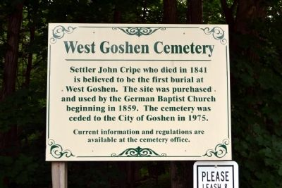 West Goshen Cemetery Marker image. Click for full size.