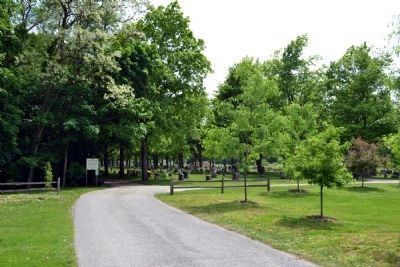 Driveway Leading to West Goshen Cemetery image. Click for full size.