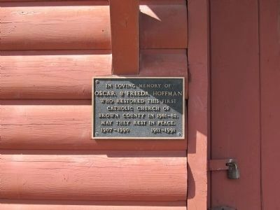 Plaque on Church image. Click for full size.