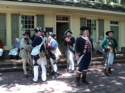 Colonial Soldiers at the Indian King Tavern image. Click for full size.