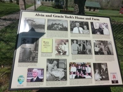 Alvin and Gracie York's Home and Farm Marker image. Click for full size.
