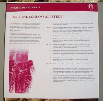 Castle and Chateau Allstedt Marker image. Click for full size.