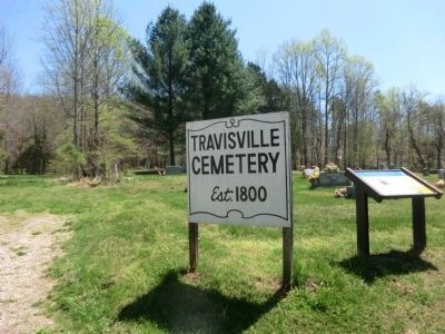 Affair at Travisville at entrance to the Cemetery image. Click for full size.