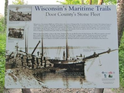Door County's Stone Fleet Marker image. Click for full size.