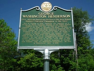 George Washington Henderson Marker image. Click for full size.