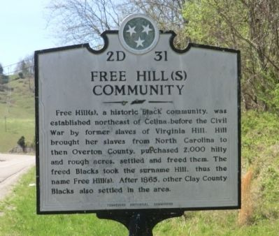 Free Hill(s) Community Marker image. Click for full size.