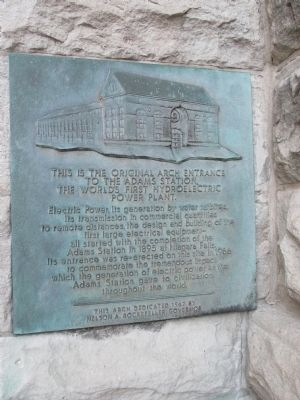 World's First Hydroelectric Power Plant Marker image. Click for full size.