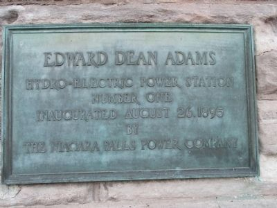 Adams Hydro-Electric Power Station Plaque image. Click for full size.
