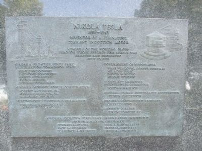 Tesla Statue Plaque image. Click for full size.