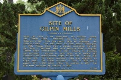 Site of Gilpin Mills Marker image. Click for full size.