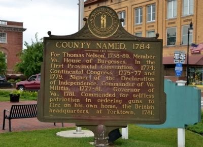 County Named, 1784 Marker image. Click for full size.