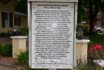 The Harrison-Smith House Marker image. Click for full size.