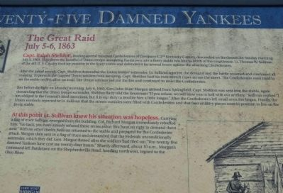 Twenty-Five Damned Yankees Marker image. Click for full size.