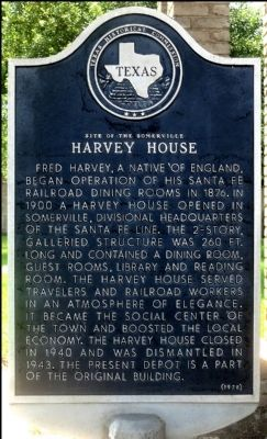 Site of Harvey House Marker image. Click for full size.