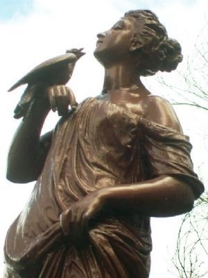 Miss Carrie M. White Fountain Statue image. Click for full size.
