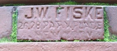Miss Carrie M. White Fountain Sculptor's Mark image. Click for full size.