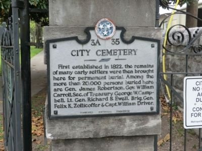 City Cemetery Marker image. Click for full size.