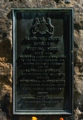 Blooming Grove Dunkard Meeting House Marker image. Click for full size.