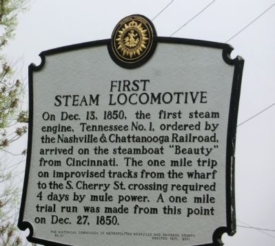 First Steam Locomotive Marker image. Click for full size.