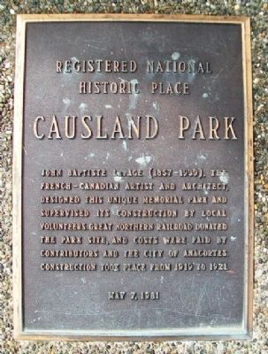 Causland Park Marker image. Click for full size.
