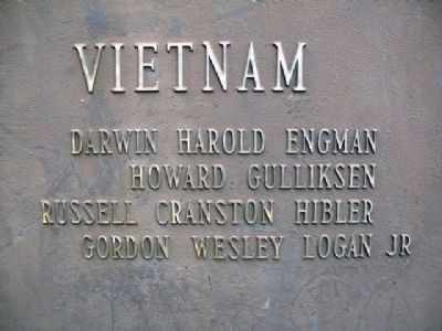War Memorial Vietnam Honor Roll image. Click for full size.