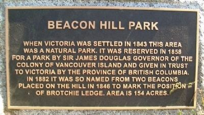 Beacon Hill Park Marker image. Click for full size.