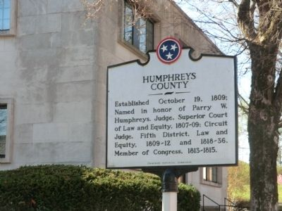 Humphreys County Marker image. Click for full size.