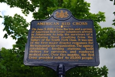 American Red Cross Marker image. Click for full size.