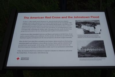 American Red Cross and the Johnstown Flood sign image. Click for full size.