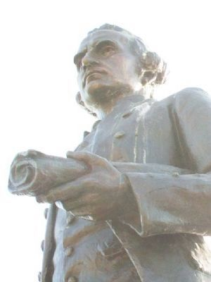 Capt. James Cook, R.N. Statue Detail image. Click for full size.